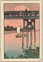 Bridge and Sail Boat