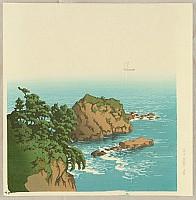 Twelve Famous Sceneries - Nishiki Bay in Atami