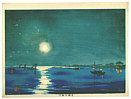 Basuke Yamada active late 19th C.-1930s - Shinagawa at Night