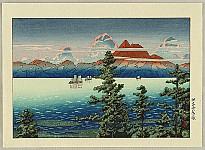 Collection of Ukiyo-e Designs - Mt. Unzen in Hizen Province
