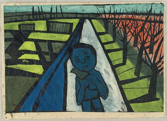 Road by Tadashige Ono 1909-1990 - Auction - Sosaku Hanga and Japanese Prints - 1405