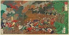 Battle of Nagashino - Cavalry vs. Muskets