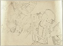 Preparatory Drawings of Two Actors