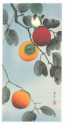 Seitei (Shotei) Watanabe 1851-1918 - Bird on a Persimmon Tree