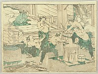 Hokusai Soga - Rice Cake Making