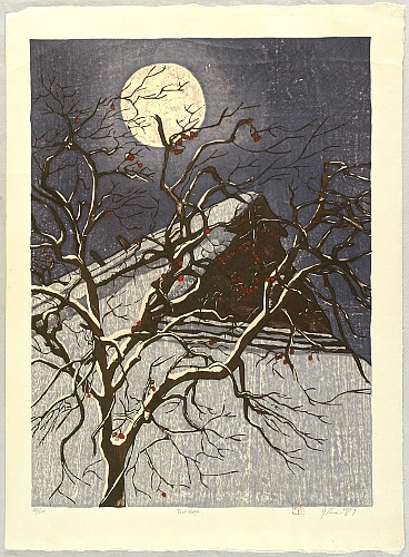 Moon Shadow - Tsukikage by Joshua Rome born 1953 - Auction - Modern Japanese Prints - 1361