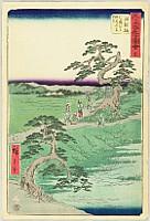 Upright (Vertical) Tokaido - Goju-san Tsugi Meisho Zue -  Chiriyu