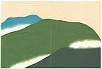 Sekka Kamisaka 1866-1942 - Green Mountains - Momoyo Gusa