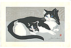 Junichiro Sekino 1914-1988 - Cat and Kitten