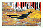Yoshiharu Kimura born 1934 - Black and Yellow  Bird
