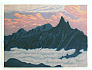 Masao Maeda 1904-1974 - Mountain and Clouds