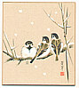 Ryohei Kimura fl.ca. late 20th C. - Sparrows in the Snow