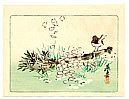 Zeshin Shibata 1807-1891 - Sparrow on a Broom  - Hana Kurabe