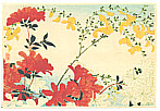Hiroaki Takahashi 1871-1945 - Azalea and Yellow Flowers (Muller Collection)