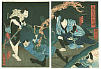 Yoshitaki Utagawa 1841-1899 - Kabuki Scene