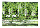 Fumio Fujita born 1933 - Riverside in Early Spring (Limited Edition)