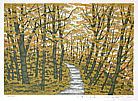 Fumio Fujita born 1933 - Mountain Path in Autumn Colors (Limited Edition)