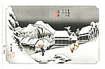 Hiroshige Ando 1797-1858 - 53 Stations of the Tokaido - Kanbara