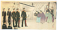 Toshihide Migita 1863-1925 - Admiral Ting Ju-chang and Admiral Ito  (Muller Collection)