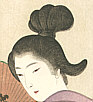 Shodo Yukawa 1868-? - Girl with a Fan - kinko fuzoku One Hundred Bijin
