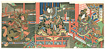 Yoshitaki Utagawa 1841-1899 - Heroes and Princess - Kokusenya Kassen