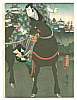 Yoshitaki Utagawa 1841-1899 - Actor on a Horse