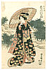 Toyokuni II Utagawa 1777-1835 - Lady with Umbrella