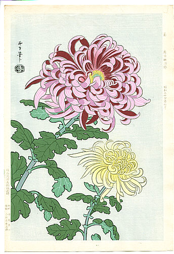 Benji Asada 1899-1984 - Chrysanthemums (first edition printing)