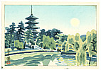 Eiichi Kotozuka 1906-1979 - Sarusawa Pond - 4 Seasons of Nara