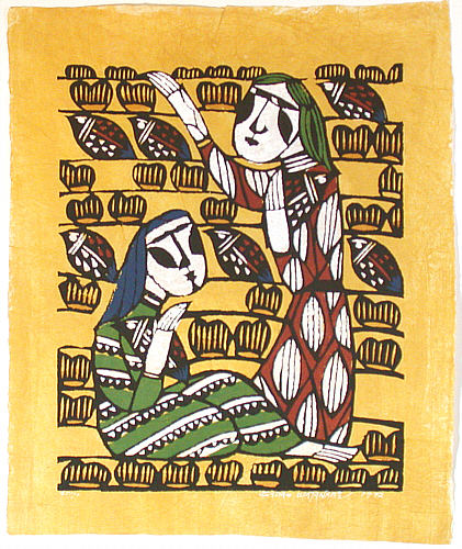 Sadao Watanabe 1913-1996 - Ladies and Birds  (Limited Edition)