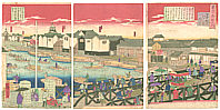 Hiroshige III Utagawa 1842-1894 - Nihonbashi Bridge - Tokyo Meisho