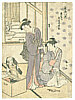 Shunzan Katsukawa active  ca. 1782 - 1798 - Two Beauties and a Mirror
