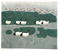 Hao Boyi born 1938 - Amorous Feelings of Crane Hometown
