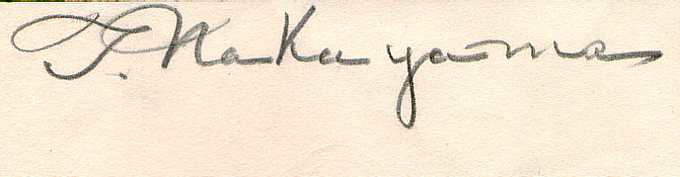 Signature: T. Nakayama