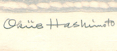 Signature: Okiie Hashimoto